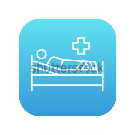 ストックフォト: 患者 · ベッド · 行 · アイコン · ウェブ · 携帯