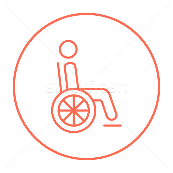 инвалидов человек линия икона сидят коляске Сток-фото © RAStudio