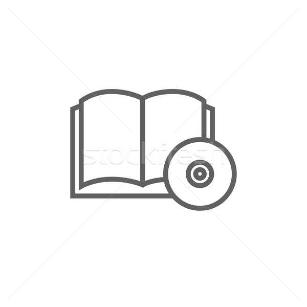 Audiobook and cd disc line icon. Stock photo © RAStudio