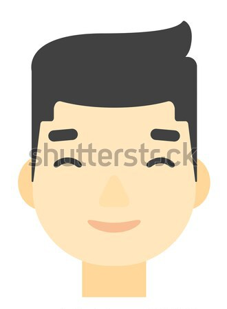 Memnun adam gözleri kapalı vektör dizayn Stok fotoğraf © RAStudio
