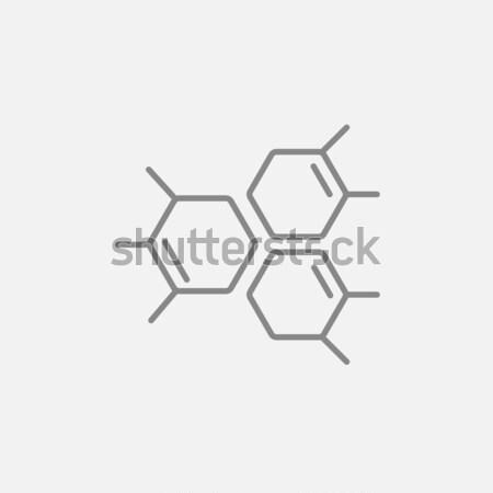 Químico fórmula linha ícone teia Foto stock © RAStudio