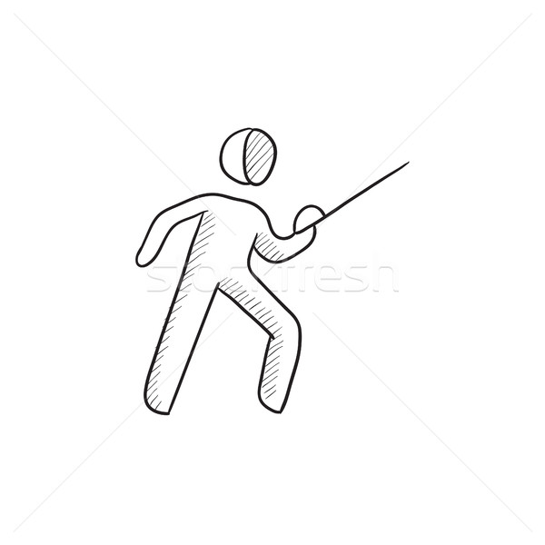 Fencing sketch icon. Stock photo © RAStudio