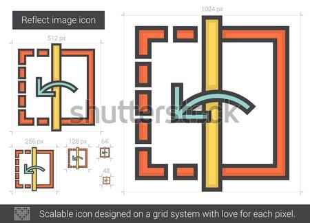 Reflect image line icon. Stock photo © RAStudio