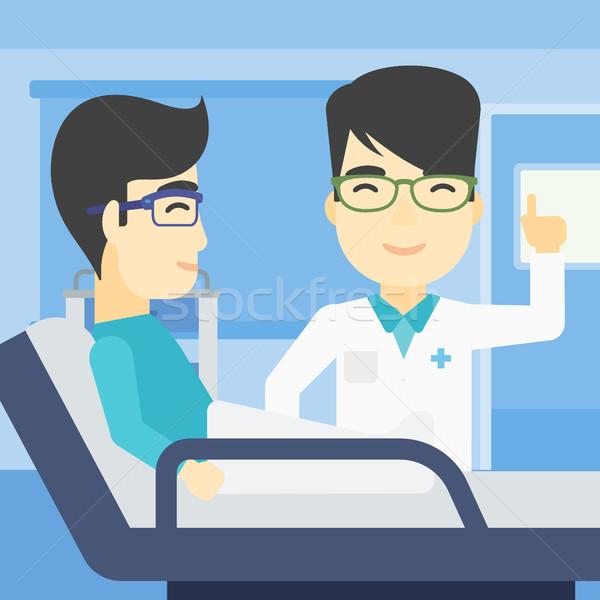 Doctor visiting patient vector illustration. Stock photo © RAStudio