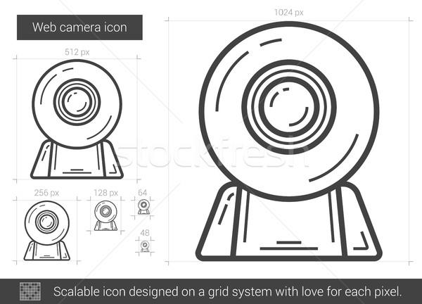 Web camera line icon. Stock photo © RAStudio