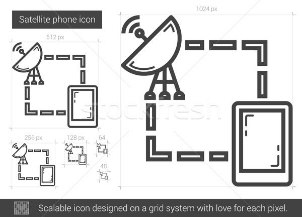 Satellite phone line icon. Stock photo © RAStudio