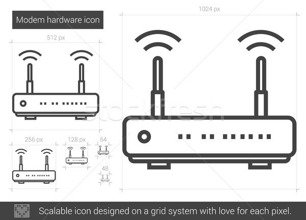 Modem hardware line icon. Stock photo © RAStudio