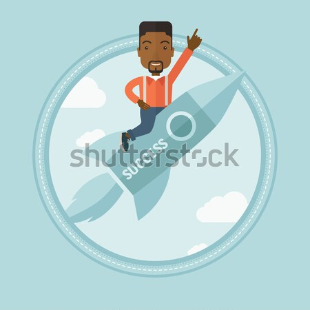 Man relaxing on beach chair vector illustration. Stock photo © RAStudio