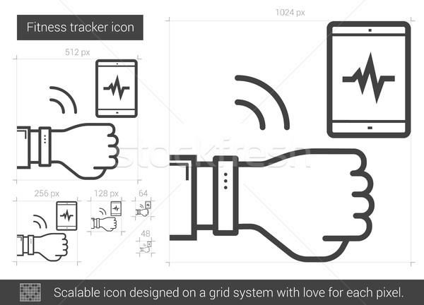 Fitness tracker line icon. Stock photo © RAStudio