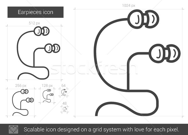 Earpieces line icon. Stock photo © RAStudio