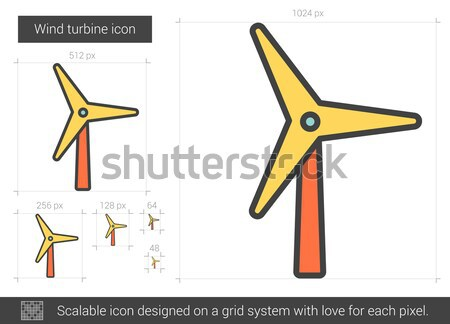 Wind turbine line icon. Stock photo © RAStudio