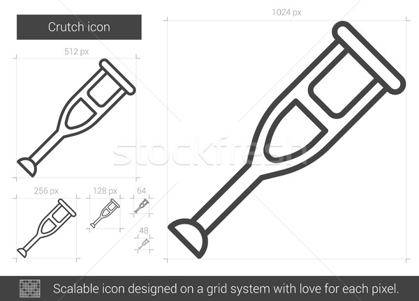 Muleta linha ícone vetor isolado branco Foto stock © RAStudio