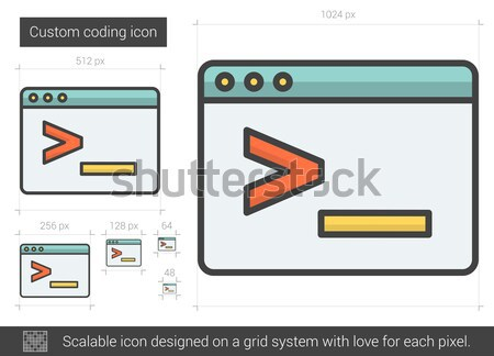 Custom coding line icon. Stock photo © RAStudio