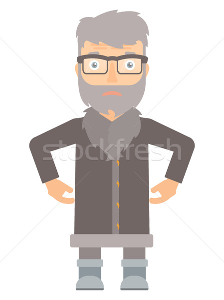 Disappointed north man vector illustration. Stock photo © RAStudio