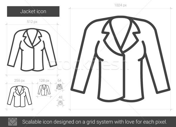 Chaqueta línea icono vector aislado blanco Foto stock © RAStudio