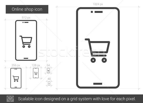 Online shop line icon. Stock photo © RAStudio