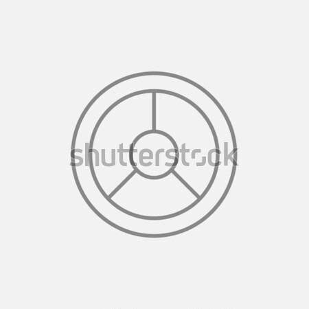 Kormánykerék vonal ikon sarkok háló mobil Stock fotó © RAStudio