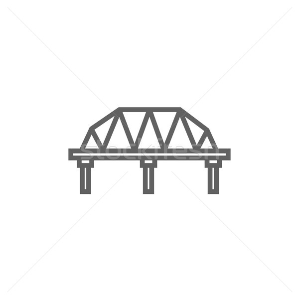 Rail way bridge line icon. Stock photo © RAStudio