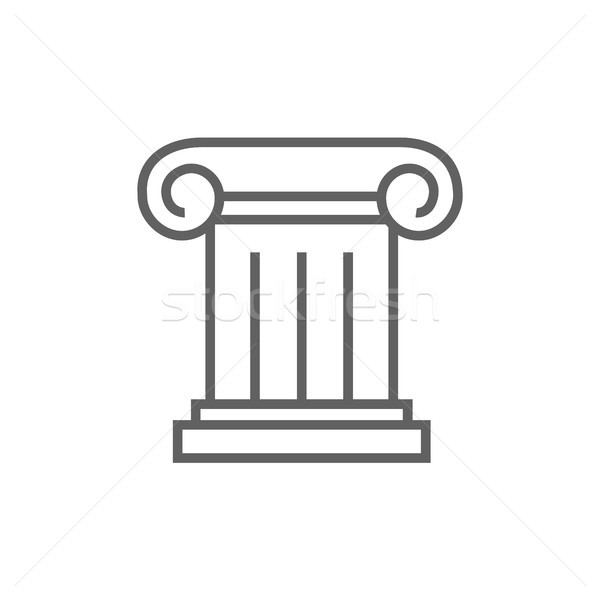 Ancient column line icon. Stock photo © RAStudio
