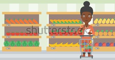 Man with shopping list vector illustration. Stock photo © RAStudio