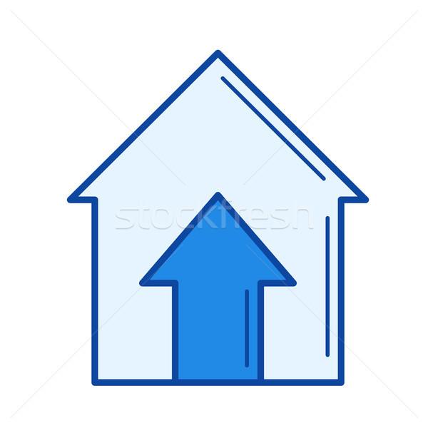 Real estate price line icon. Stock photo © RAStudio