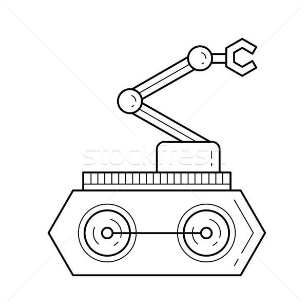 Manipulator vector line icon. Stock photo © RAStudio