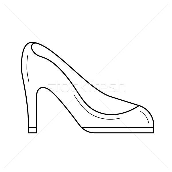 Woman shoes line icon. Stock photo © RAStudio