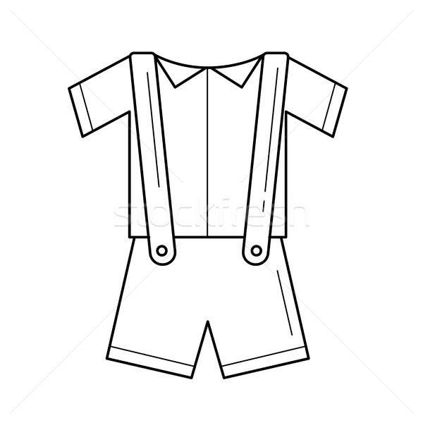 Baby clothes vector line icon. Stock photo © RAStudio