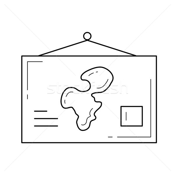 World map vector line icon. Stock photo © RAStudio