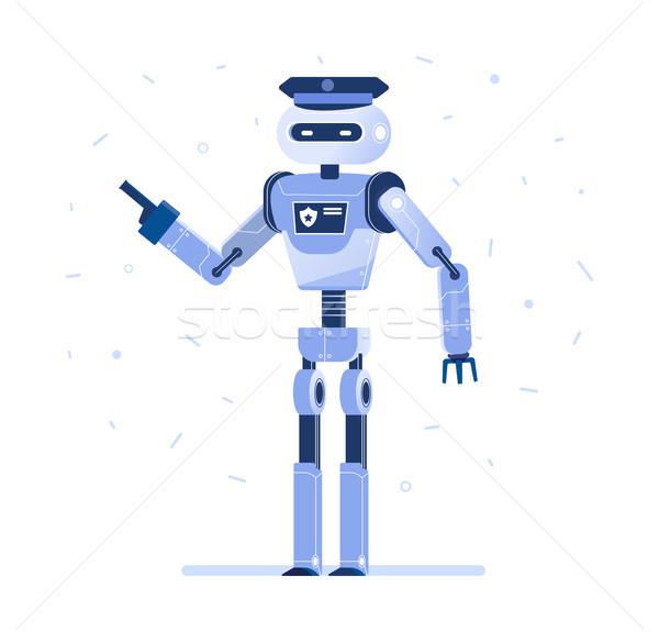 Successful robot businessman with a tie. Stock photo © RAStudio