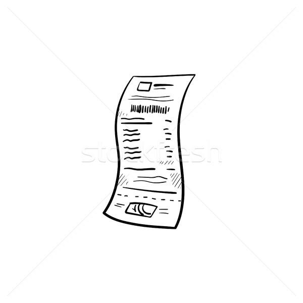領収書 手描き いたずら書き アイコン 紙 ストックフォト © RAStudio
