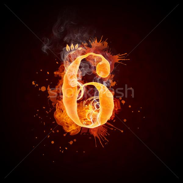 Fire Swirl Number 6 Stock photo © RAStudio
