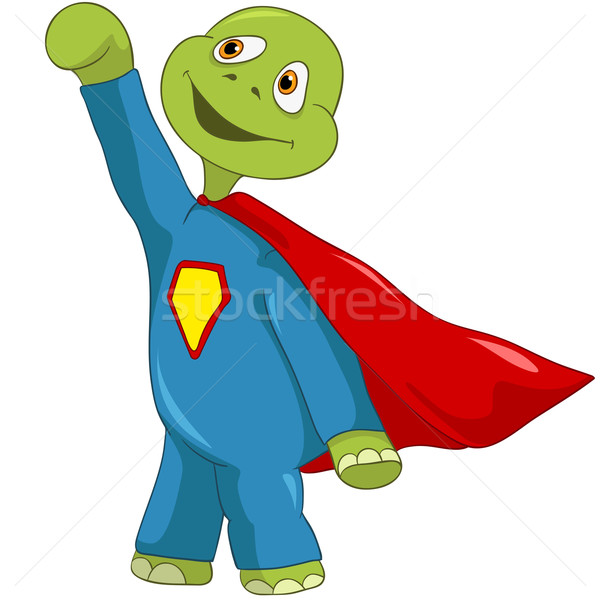 Funny Turtle. Superman. Stock photo © RAStudio