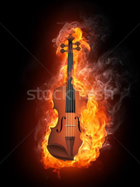 Violin in Fire Stock photo © RAStudio