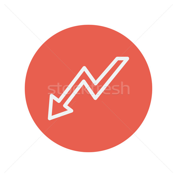 Lightning arrow downward thin line icon Stock photo © RAStudio