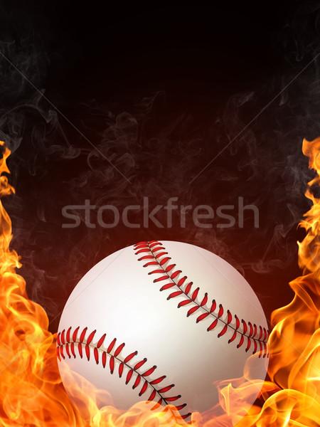 Tennisbal brand graphics computer ontwerp achtergrond Stockfoto © RAStudio