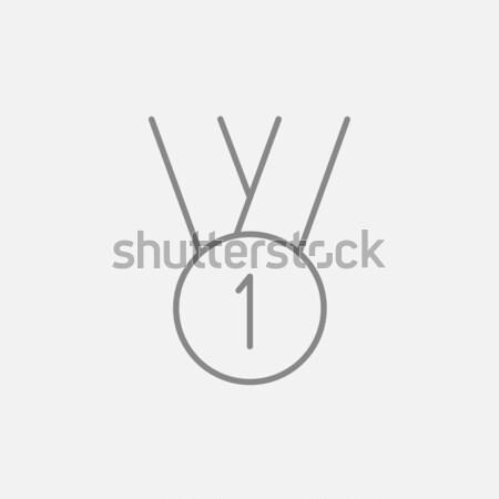 金メダル 最初の場所 アイコン チョーク 手描き ストックフォト © RAStudio