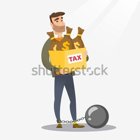 税 スレーブ ボール アジア ビジネスマン ストックフォト © RAStudio