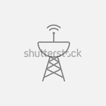 Radar linha ícone teia móvel Foto stock © RAStudio