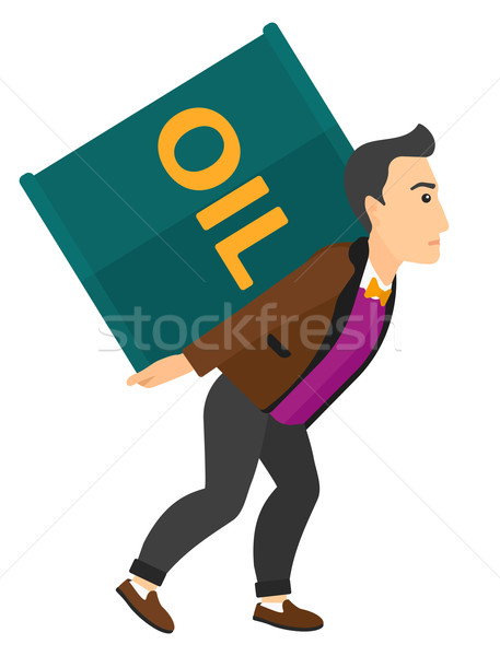 Man with oil can. Stock photo © RAStudio