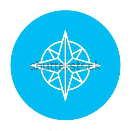 компас ветер закрывается линия икона веб Сток-фото © RAStudio