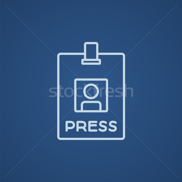 Press pass ID card line icon. Stock photo © RAStudio