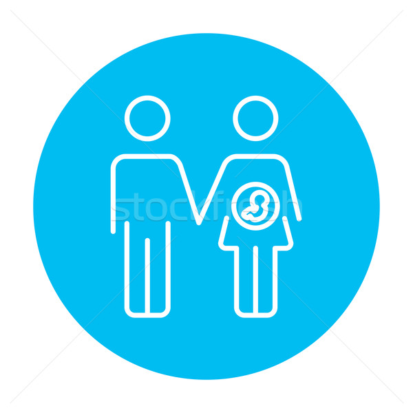Husband with pregnant wife line icon. Stock photo © RAStudio