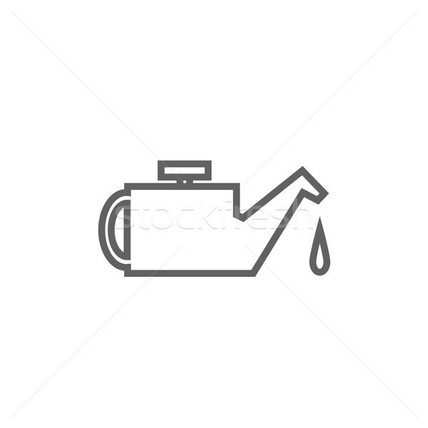 линия икона уголки веб мобильных Инфографика Сток-фото © RAStudio
