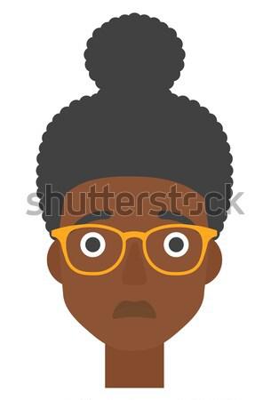 Jovem deprimido mulher vetor projeto ilustração Foto stock © RAStudio