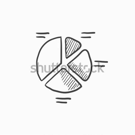 円グラフ スケッチ アイコン ウェブ 携帯 インフォグラフィック ストックフォト © RAStudio