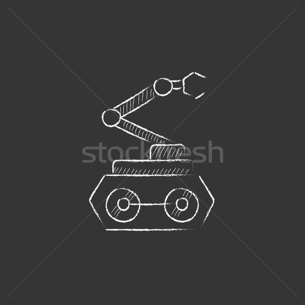 Industriële mechanisch robot arm krijt Stockfoto © RAStudio