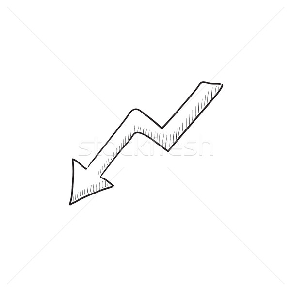 Pijl schets icon vector geïsoleerd Stockfoto © RAStudio
