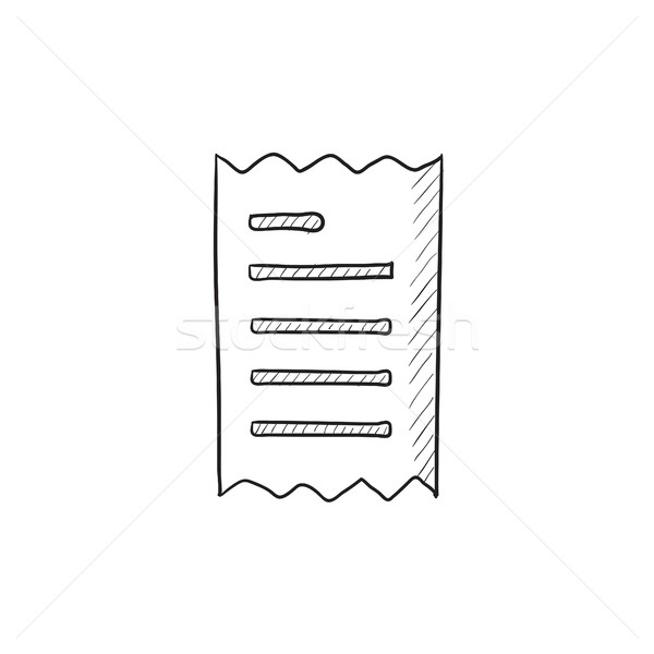 Erhalt Skizze Symbol Vektor isoliert Hand gezeichnet Stock foto © RAStudio