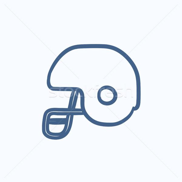 Hockey helmet sketch icon. Stock photo © RAStudio